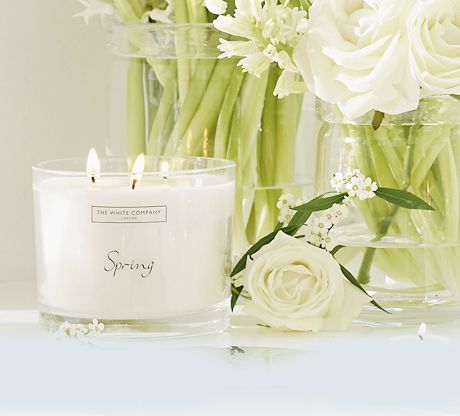 Spring candles and fragrance