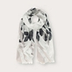 Abstract Print Scarf - Gray