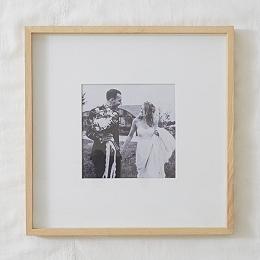 "Fine Ash Wood Recessed Frame 8x8"""