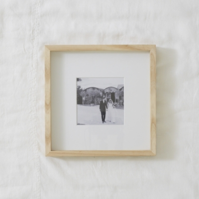 Fine Ash Wood Recessed Frame 5x5"