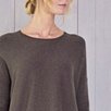 Asymmetric Hem Sweater - Clay