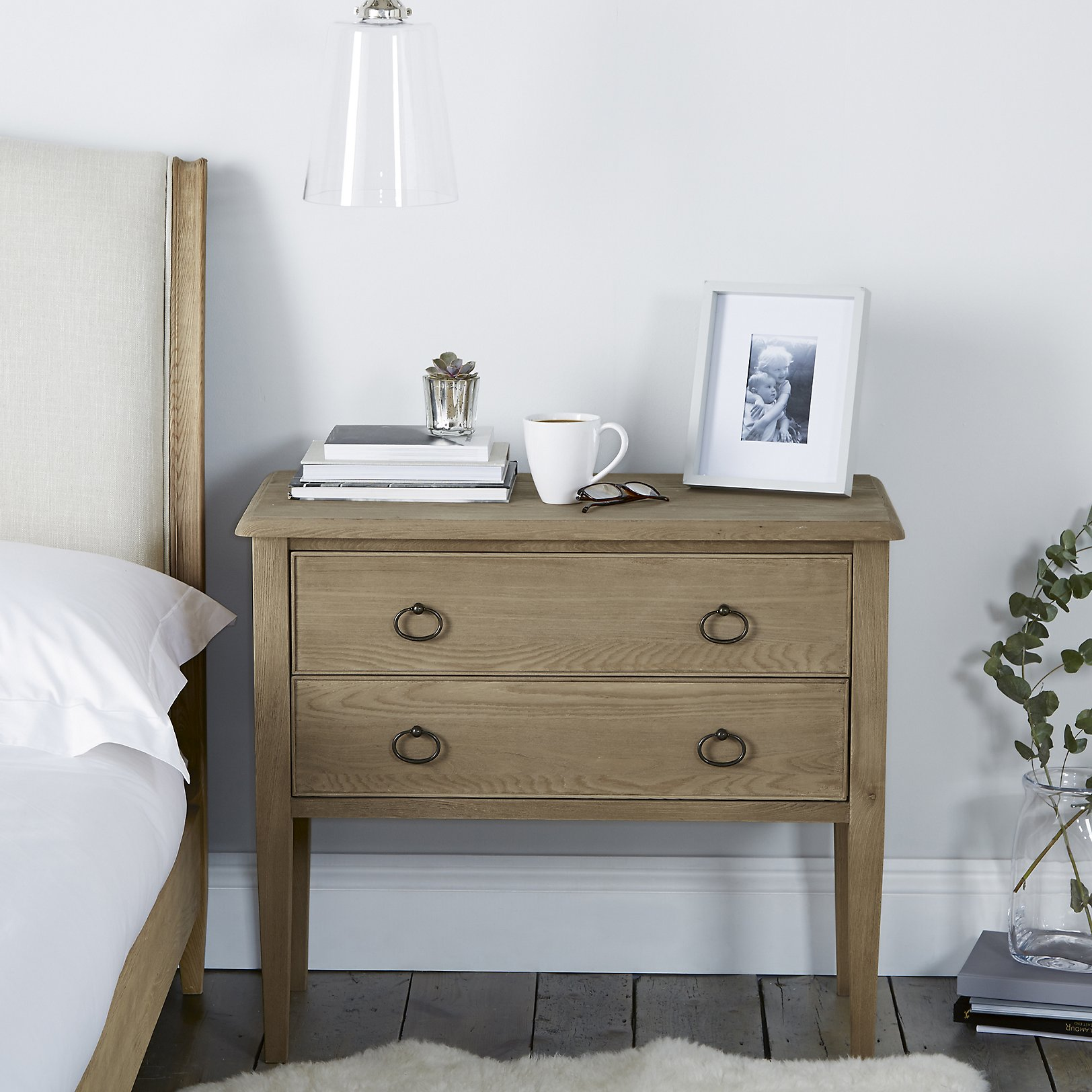Ardleigh Wide Bedside Table   Smoke. Ardleigh Wide Bedside Table   Bedroom Furniture   The White Company UK