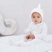 Word Search Velour Sleepsuit & Hat Set