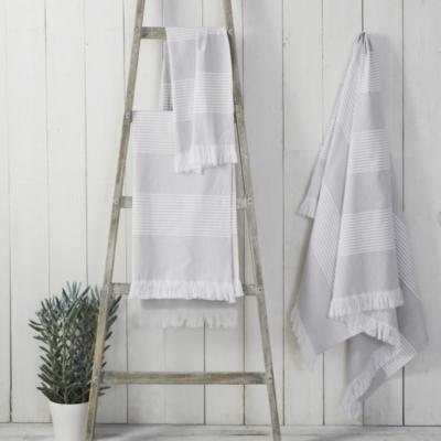 Amalfi Hammam Towel - GrayWhite