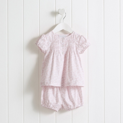 Baby Girls' Amelie Floral Blouse & Bloomers