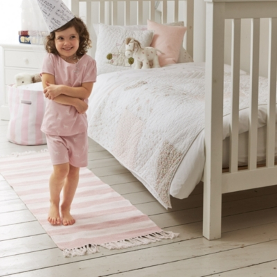 Stripe Storage Bag - Pink Stripe