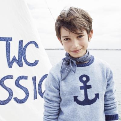 Anchor Motif Sweater (4-10yrs)