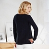 All-Over Stitch Sweater - Navy