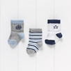 Baby Boys' Ship and Star Socks - 3 Pack