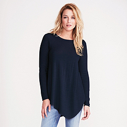 Asymmetric Jumper - French Navy Marl