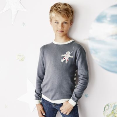 Astronaut Motif Sweater (4-10yrs)