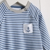 Anchor Stripe Sleepsuit - Blue