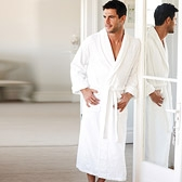 Buy Unisex Classic Cotton Robe - White from The White Company