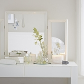 Buy Carlton Glass Framed Dressing Table Mirror from The White Company