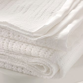 Buy Satin Edged Cellular Blanket - Cot Blanket from The White Company