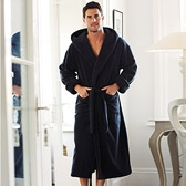 Buy Unisex Hydrocotton Hooded Robe - Navy from The White Company