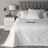 Buy White Etienne Bedspread & Cushion from The White Company