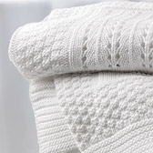 Buy Knitted Patchwork Baby Blanket from The White Company