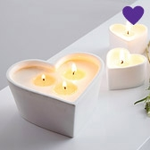 Buy Unscented Large Ceramic Heart Candle from The White Company