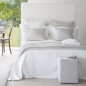 Buy Channel Rib Bedspread - White from The White Company