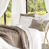 Buy Claredon Quilt & Cushion Covers - Latte from The White Company