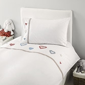 Emily Hearts Embroidered Duvet Cover Set