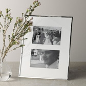 Buy Fine Silver Photo Frame 4x6 from The White Company