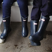 Buy Hunter Wellies - Navy from The White Company