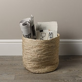 Buy Jute Wastepaper Bin from The White Company
