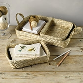 Buy Jute Nesting Trays - Set of 3 from The White Company