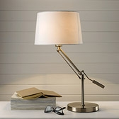 Buy Brushed Steel Task Lamp from The White Company