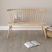 Buy Ercol Love Seat - Natural from The White Company