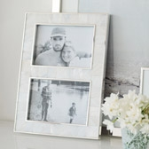 Buy Mother Of Pearl Photo Frame 4x6 - White from The White Company