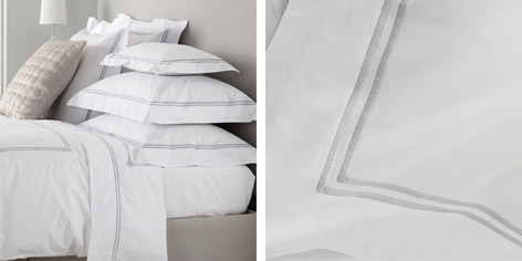 Buy Portland Bed Linen Collection - Silver from The White Company