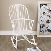 Buy Ercol Rocking Chair - White from The White Company