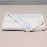 Buy Stripe Cashmere Blanket - Blue from The White Company