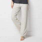 Brushed Jersey Trousers - Cloud Marl