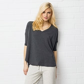 Drapey Lounging T-Shirt - Dark Charcoal Marl