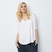 Drapey Lounging T-Shirt - White