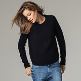 Fisherman's Rib Jumper - Navy