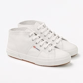 Superga Mid Top Pumps - White