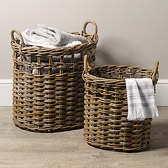 Oval Baskets - Set of 2