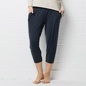 Pleated and Gathered Jersey Pants - Graphite