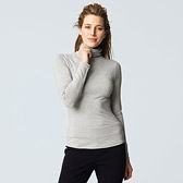 Slinky Roll Neck Top - Grey