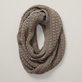 Tuck Stitch Snood - Mink Marl