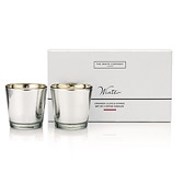 Winter Pewter Votives - Set of 2