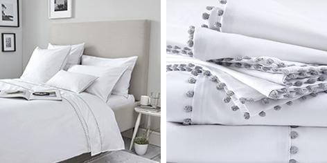 Avignon Bed Linen Collection - Silver Grey