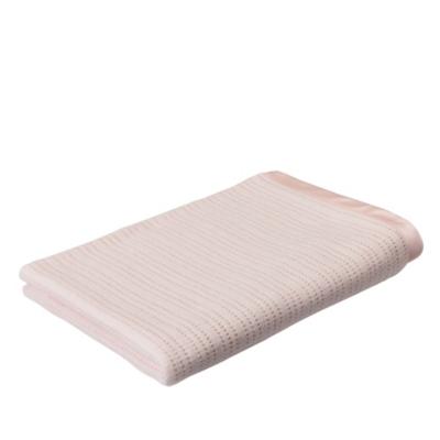 Satin Edged Cellular Cot Blanket - Cot Blanket - Pink