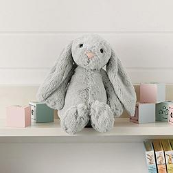 Medium Silver Bashful Bunny