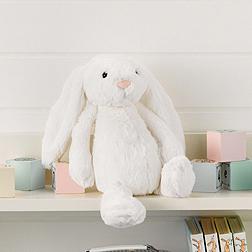 Medium White Bashful Bunny